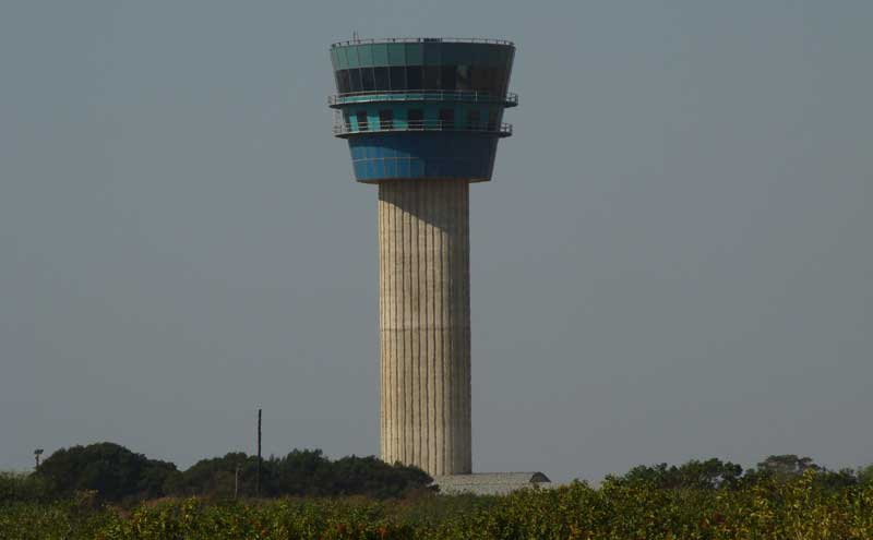 air traffic control tower during the environmental rehabilitation and construction state of the KSIA